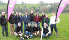 DLF Grass Partners Meeting with Grasstech visiting David Hunters Farm in Newtownstewart, Omagh